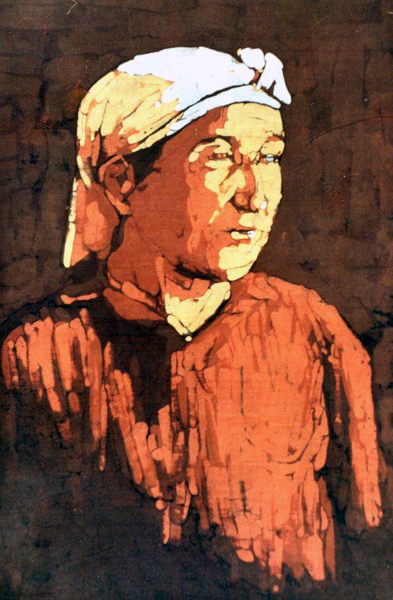 Atanur's Mother Batik Technique  50x70 cm 1986