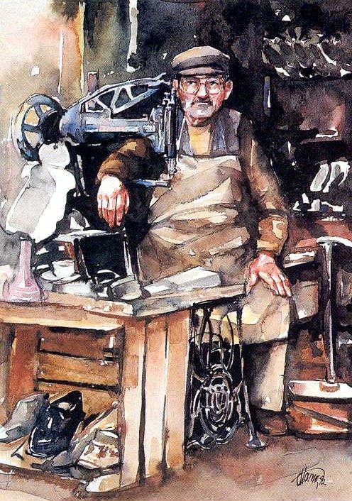 Shoe repairman
