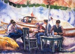 Fisher men in Guzelbahce