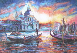 Gondola in the Grand Canal