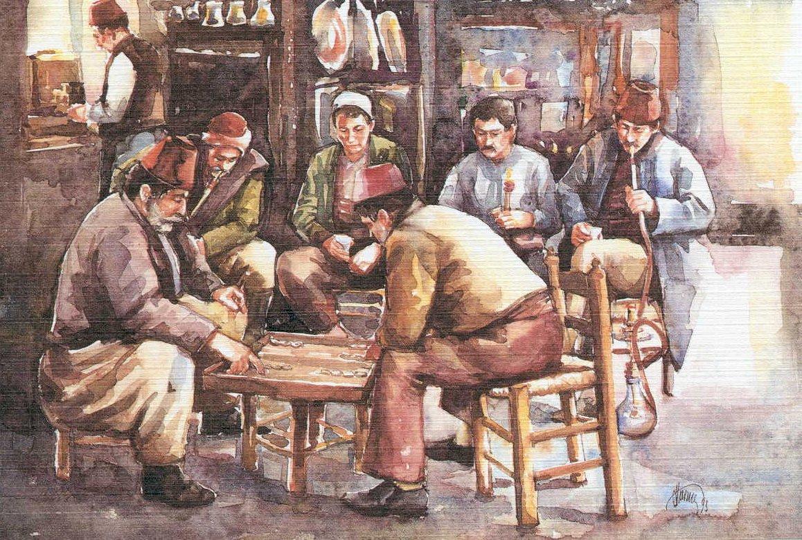Old Istanbul cafe scene