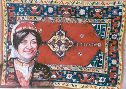 Turkish Girl and Carpet