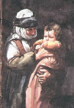 Kurdish grandma and child