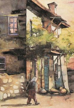 Woman in Sirince street