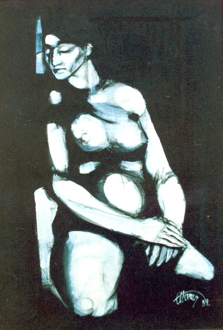 Nude  Acrylic  50x70 cm 1989