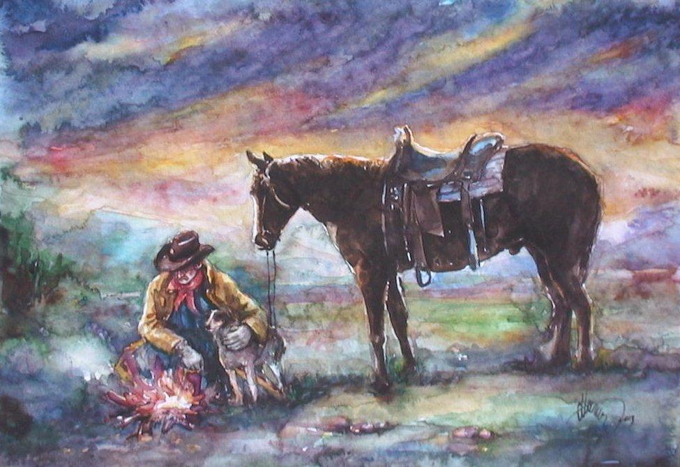 Cowboy Resting