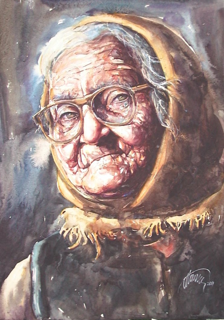 Old Woman With Eyeglasses