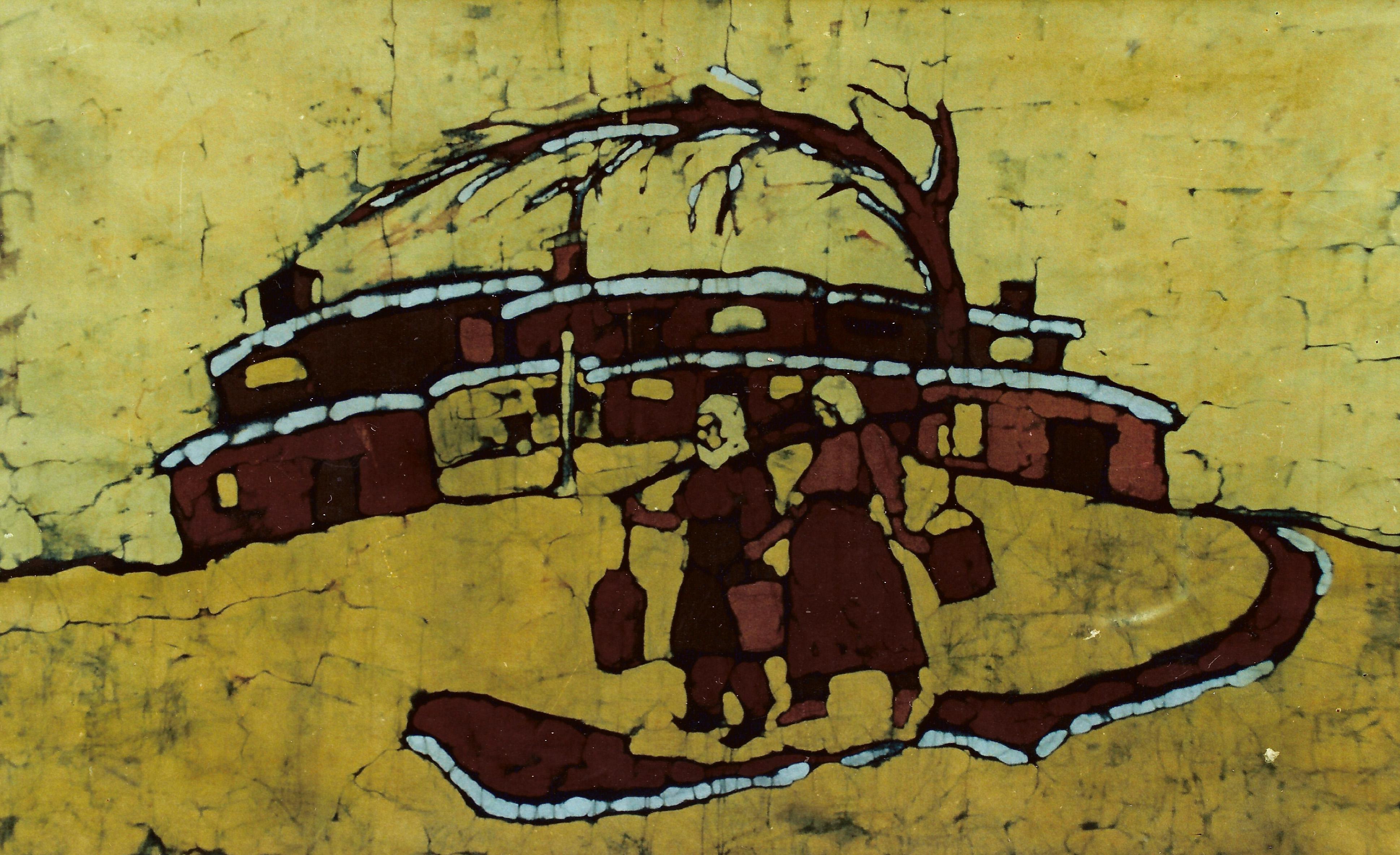 Carrying Water - Batik