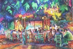Jazz cafe under the trees