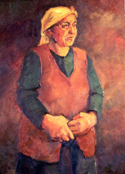 Atanur's Mother Oil on canvas 1985