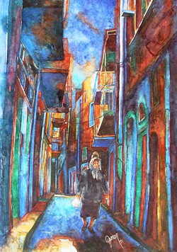 A street in Chios at night