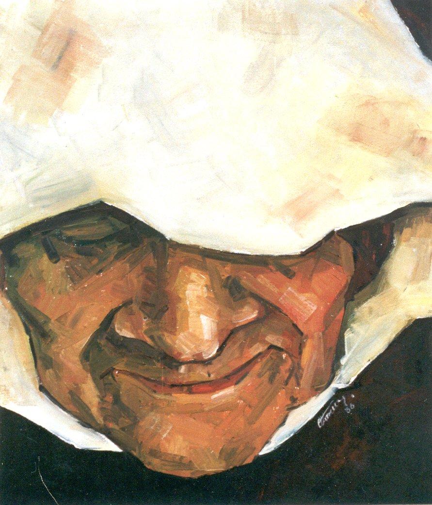 Ercan Grandma. Oil on canvas  90x105 cm 1986