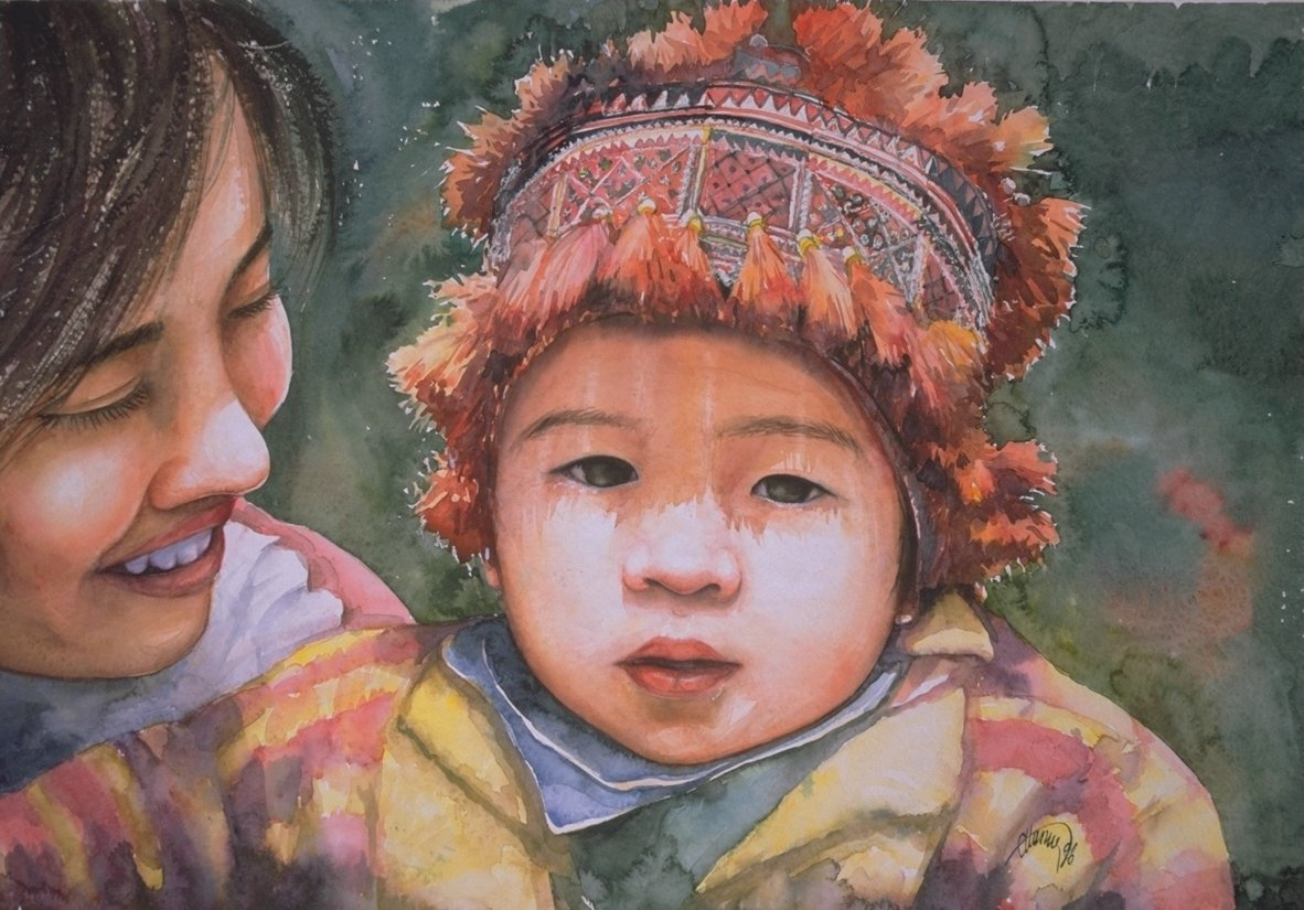 Chinese mother and child