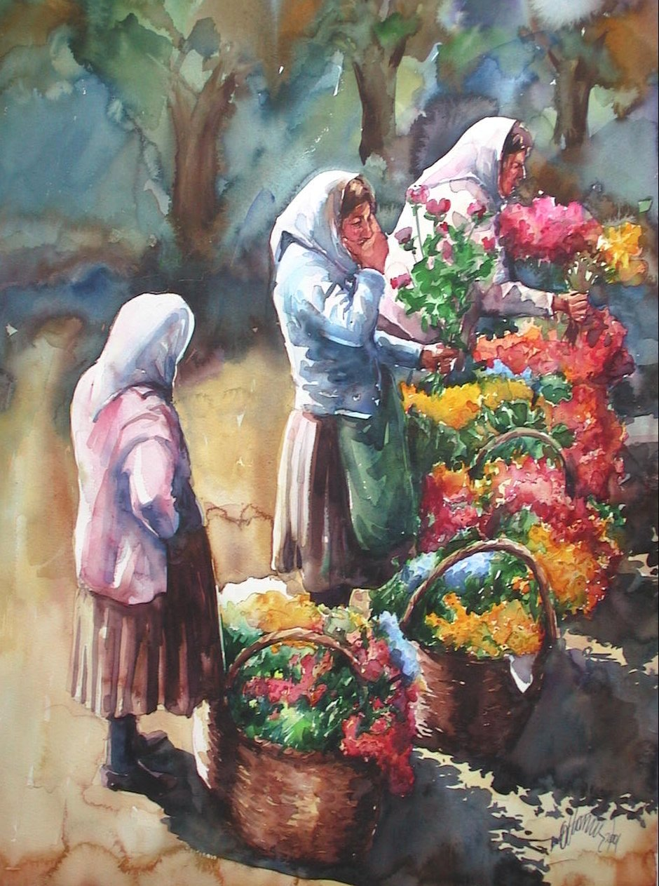 Flower saller Women