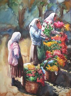 Flower saller Women