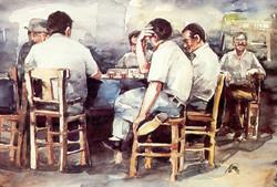 Men playing