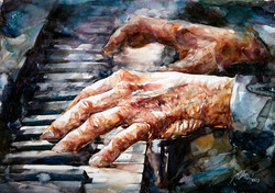 1- Hands on the Piano (Atanur Dogan) 50x70cm