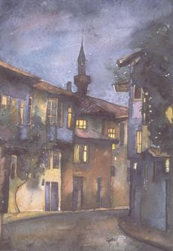 Night scene in Afyon