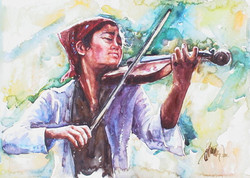 Violinist girl