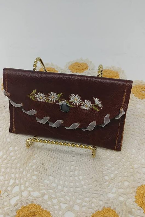 Leather Pouch flowers