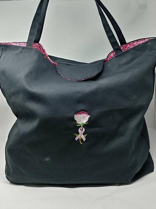 Crochet Bag Cancer Awareness