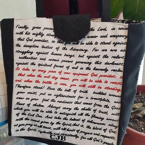Ephesians 6 tote bag