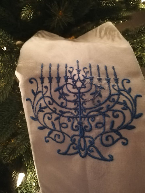 Holiday Dish Towels Menorah