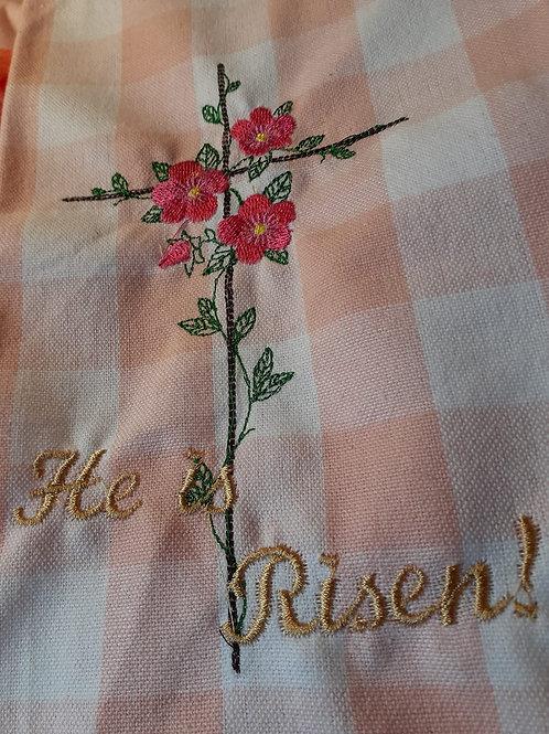 He is Risen tee towel