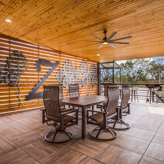 """Bring the party outside!  The 30x22 covered plaza deck is a favorite for small or large gatherings. And the 72"""" flatscreen entertainment is a big hit for all the sports fans!"""