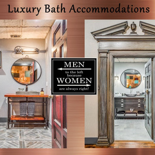 Both beautiful bathrooms - Fit for a king or queen!