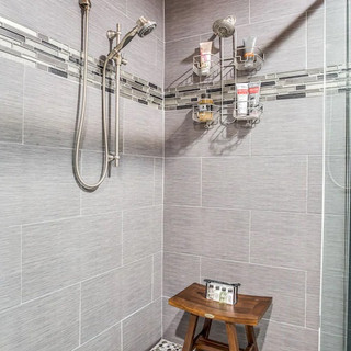 Large is an understatement for this custom shower!