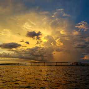 Blowup over the Sanibel Causeway