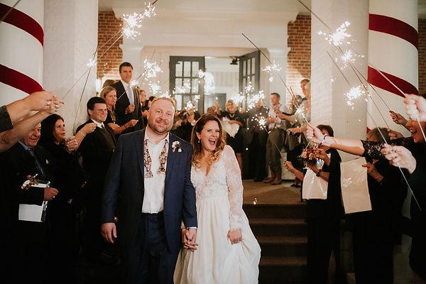 Bride Groom Sparkler Sendoff Bedford Springs