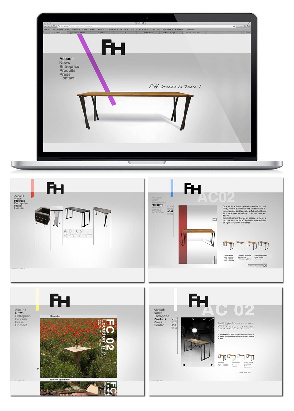 Site internet FH mobilier