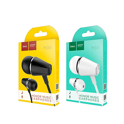 Hoco - M34 Honor Earphones with microphone - Suits iPhone & Android