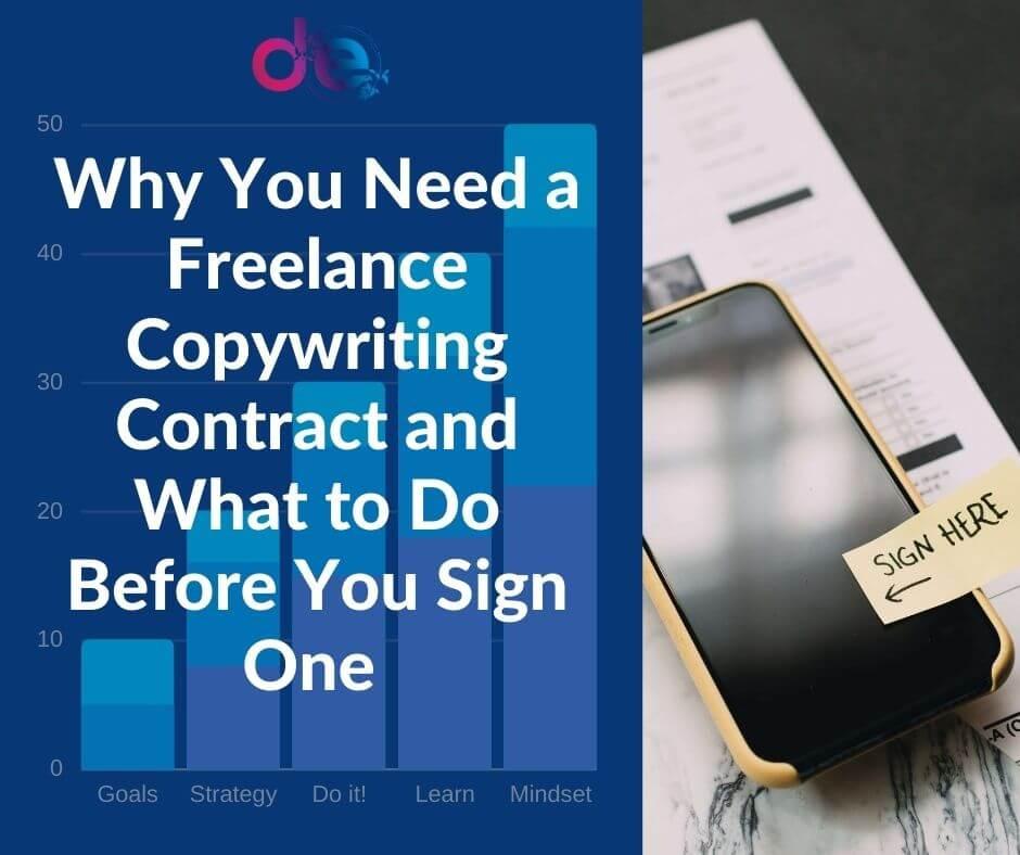 Freelance copywriting contract blog banner