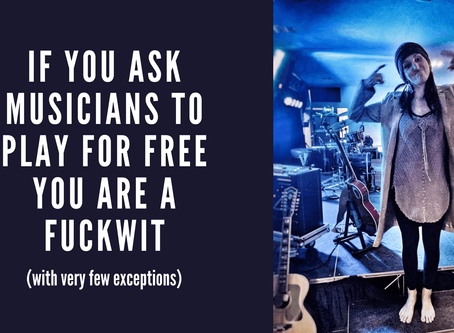 If You Ask Musicians to Play for Free You Are a Fuckwit (with very few exceptions)