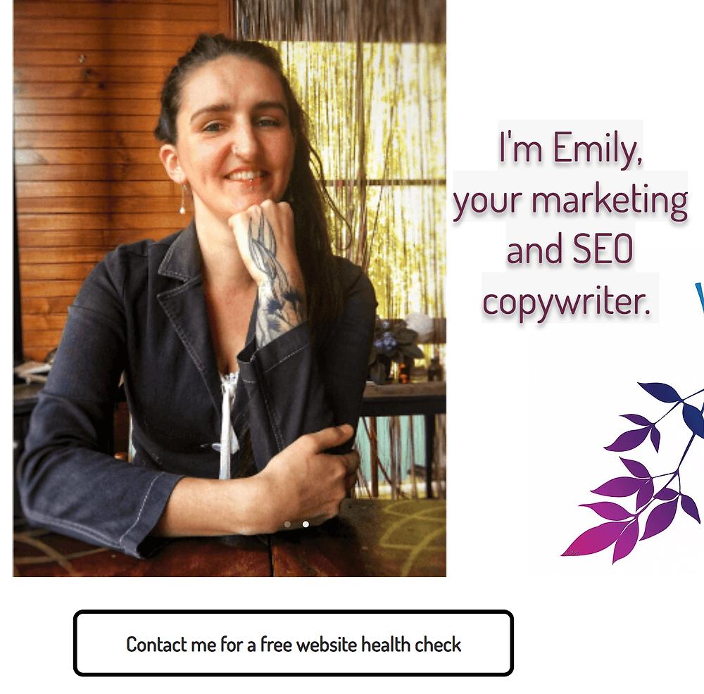 Digital Emily copywriting services Sydney, Blue Mountains