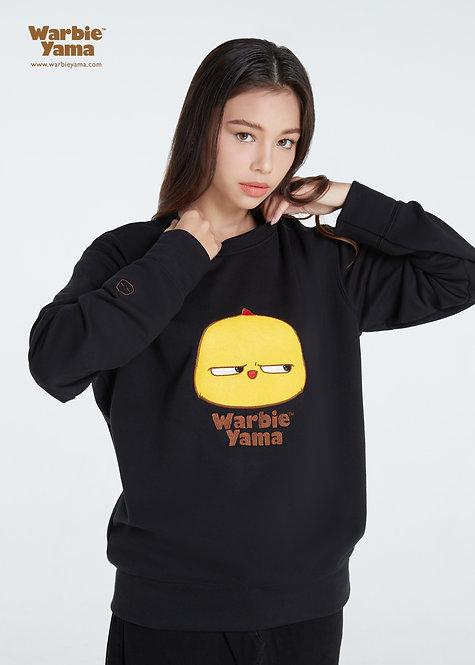 Warbie appliqué logo Sweatshirt (Black)