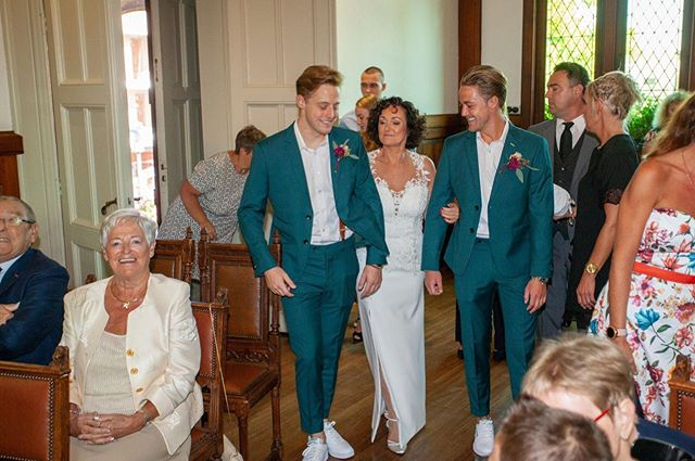 When bride's two groomsmen (her son's) h