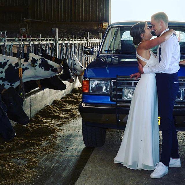 Wat een onwijs cool bruidspaar is dit! ❤