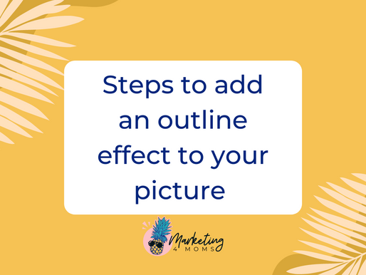 How to add an outline effect to your picture with Canva?