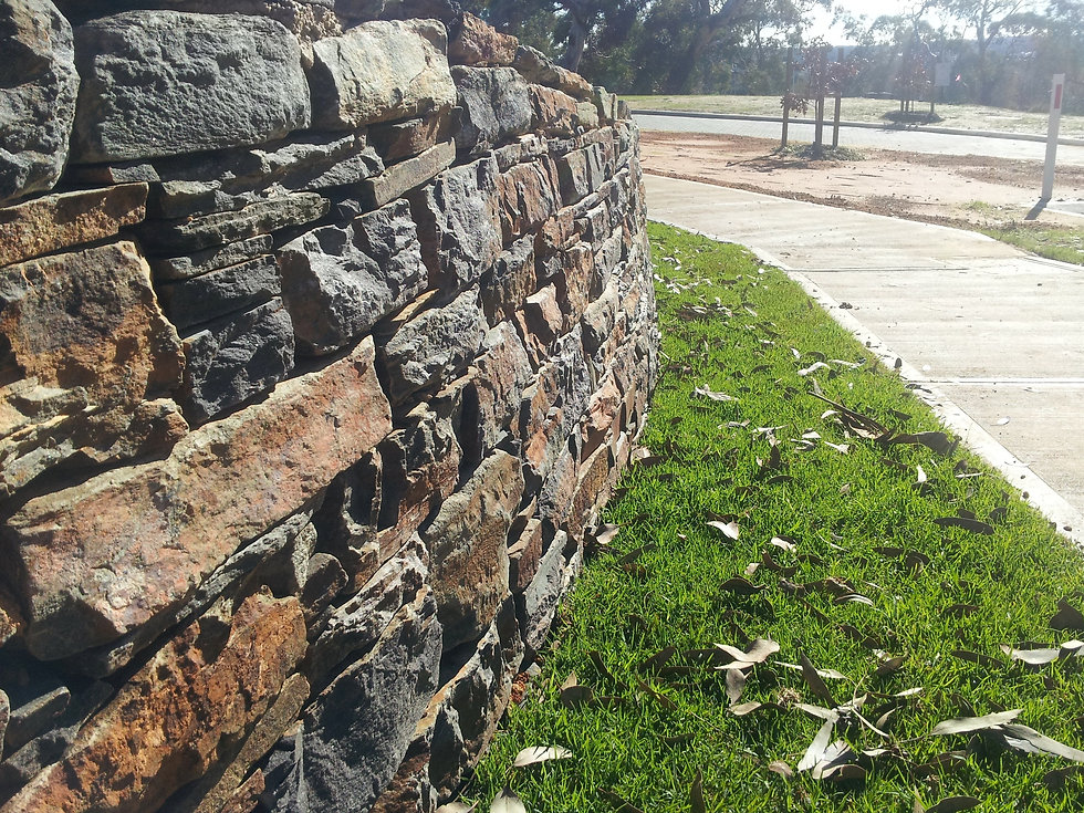 Drystone Wall Using Adelaide Hills Blues