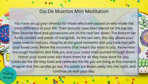 Dia De Muertos: Meditation