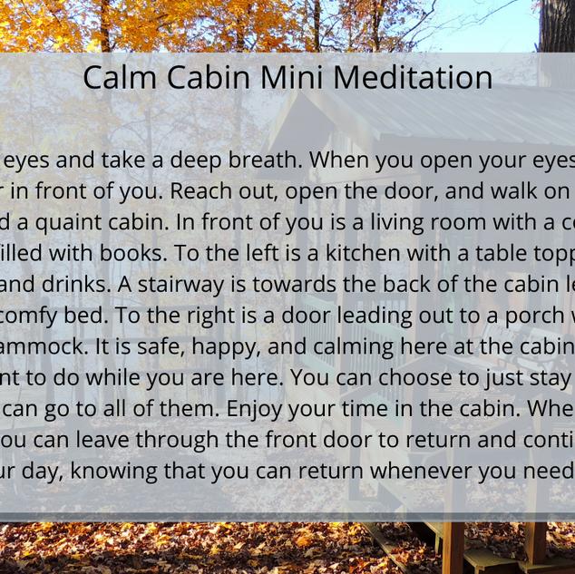 Calm Cabin
