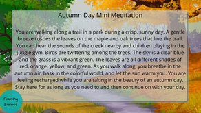 Autumn Day: Meditation