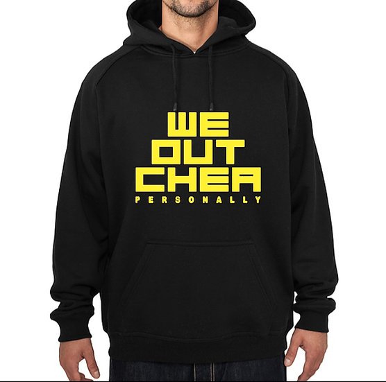 WE OUT CHEA HOODIE blk&yellow