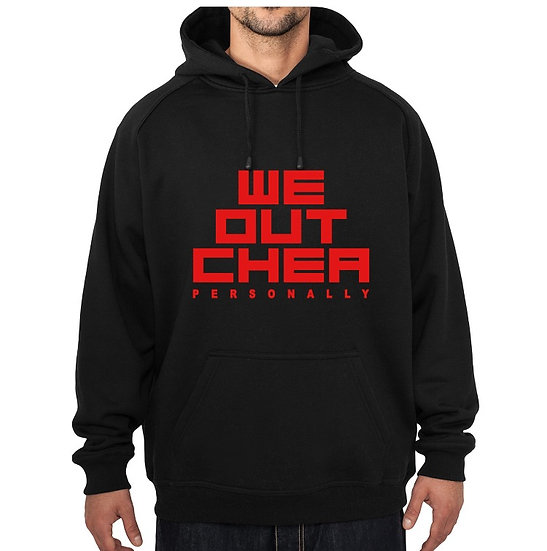 WE OUTCHEA HOODIE blk&red