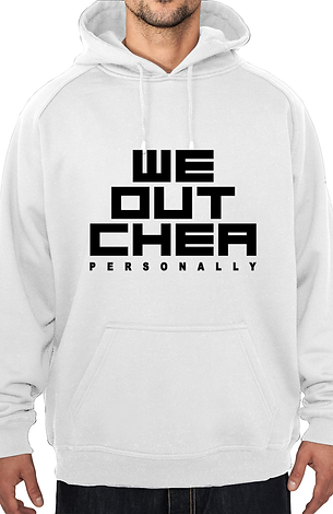 WE OUTCHEA HOODIE wht&blk