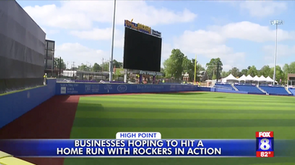 Businesses hoping to hit a home run with High Point Rockers in action